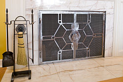Contemporary Fireplace Doors Rick Andrus Design FIRE 12